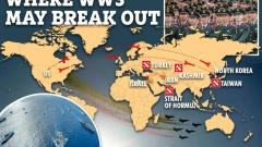 Американская газета нарисовала карту третьей мировой войны